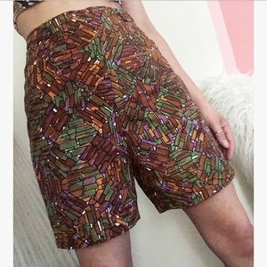 Vintage High Waisted Bermuda Shorts